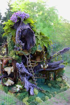 Miniature Driftwood Fairy House...