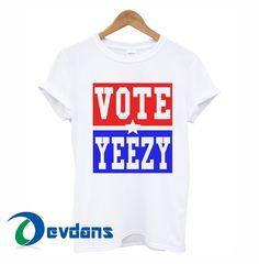cd82e9decf01e VOTE YEEZY Kanye West 2020 president campaign T-shirt men