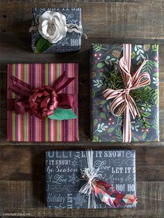 DIY Chalkboard Gift Wrap