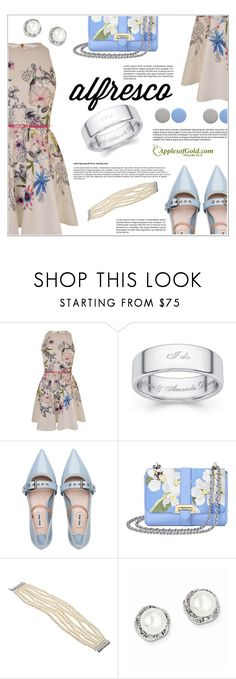 """Alfresco Dining"" by applesofgoldjewelry ❤ liked on Polyvore featuring Ted Baker, Miu Miu, Aspinal of London, Burberry and Apples of Gold"