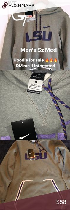 NWT Men's Nike LSU Tigers Therma Fit Hoodie Sz M NWT Men's Nike Hoodie Nike Jackets & Coats Performance Jackets
