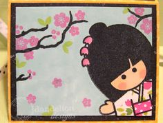 To make card base, cut a x piece of card stock.score at intervals. Each season scene is stamped on a Diy Crafts For Gifts, Arts And Crafts, Japanese Party, Asian Cards, Dandelion Designs, Baby Girl 1st Birthday, Kokeshi Dolls, Simple Gifts, Crafty Craft