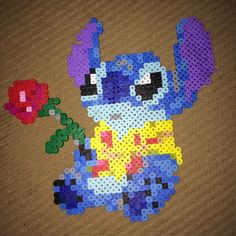 Stitch perler beads by disneypinsforever