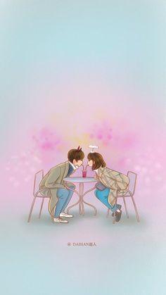 K-dramas cutie photo Cute Couple Drawings, Cute Couple Art, Anime Love Couple, Couple Cartoon, Cute Drawings, Weightlifting Fairy Wallpaper, Weightlifting Fairy Kim Bok Joo Wallpapers, Weightlifting Fairy Kim Bok Joo Fanart, Korean Art