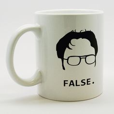 Dwight Schrute False Coffee Mug by MugSmug on Etsy https://www.etsy.com/listing/188313494/dwight-schrute-false-coffee-mug
