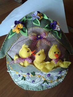 uovo in feltro con pulcini - by Luisa Valent