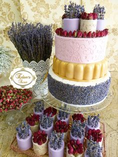 Rose & Lavender Soap Wedding Cake, by Edens Secret, YES it is SOAP