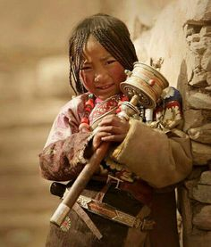 Rare photo of Tibetan child.