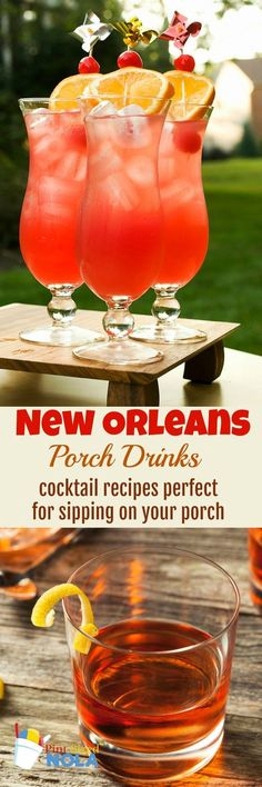 New Orleans Porch Drinks - Cocktail Recipes