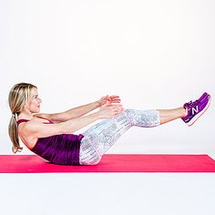 Tone-it V hold: Ab workouts, from simple to killer, to help you flatten your belly, burn fat, and strengthen your core. | Health.com