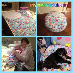 Sewing is all about being an individual. That's why in our sewing classes everyone works on their own project. Like this washable cushion cover with pom pom piping, that Gaby sewed for her dog in our Evening sewing class, on the Gold Coast. Cheers Fee http://mysewingclub.com/gold-coast-sewing-classes/
