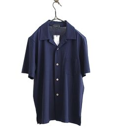 tsuki.s 強撚天竺S/Sカットソーシャツ(NAVY) - FLORAISON