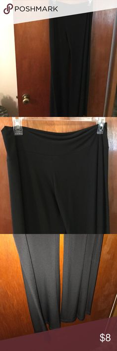 Black palazzo pants Soft and flowing Pants Wide Leg