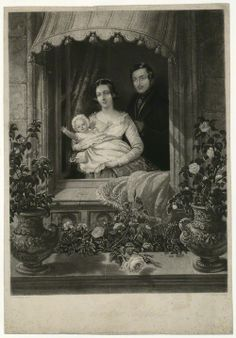 Queen Victoria and Prince Albert, with their eldest daughter, Princess Victoria