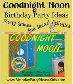 Goodnight Moon Birthday Banner Personalized Party Backdrop