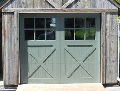 Porte de garage de style rustique