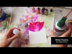 How to Paint with Alcohol Ink - Blowing Flowers Demo - YouTube