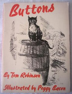 Buttons by Tom Robinson Vintage Childrens Book Cat by SandyCreekCollectables for $5.00