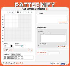 8 générateurs gratuits de patterns sur http://www.marevueweb.com
