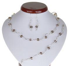 BIŻUTERIA ŚLUBNA KOMPLET ŚLUBNY wieczorowy posrebrzany kryształki brązowy KP202 Silver, Jewelry, Fashion, Jewlery, Moda, Money, Jewels, La Mode, Jewerly