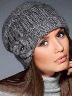 Easy Hinitting : Fashion Hats Photos of fashionable knitted hats . Bonnet Crochet, Crochet Beanie, Knit Or Crochet, Knitted Hats, Scarf Hat, Beanie Hats, Beanies, Funky Hats, Knitting Stiches