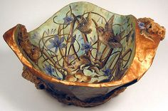 Paper Maché Decoupaged Bowl - Nest by Natalie Wargin