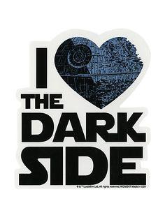 Star Wars I (Heart) The Dark Side Sticker | Hot Topic