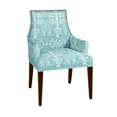 Mia Dining Armchair with Brass Nailheads