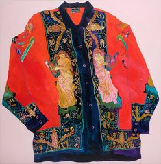 Andy Dixon ^ Versace Shirt, X Acrylic & oil pastel on framed canvas, 2016 Pretty Outfits, Cool Outfits, Fashion Outfits, Mode Alternative, High Fashion, Womens Fashion, Facon, Poses, Aesthetic Clothes