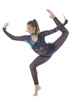 Dramatic Rhiannon unitard with sparkly sequin fabric and Charlize lace perfect for High Kick and Drill! Monkey sleeves have a stand out thumb detail while keeping costume in place. Cute Dance Costumes, Lyrical Costumes, Jazz Costumes, Demon Costume, Costume Dress, Dynamic Dance, Dance Supplies, Aerial Costume, Circus Costume