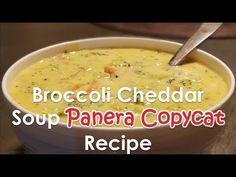 Broccoli Cheddar Soup (AMAZING) | Panera Broccoli cheddar soup copycat recipe - YouTube