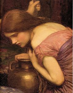 Waterhouse: Nymphs finding the Head of Orpheus, Women with Water Jugs (detail) by deflam, via Flickr