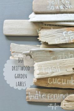 DIY Driftwood Garden Labels {City Farmhouse}