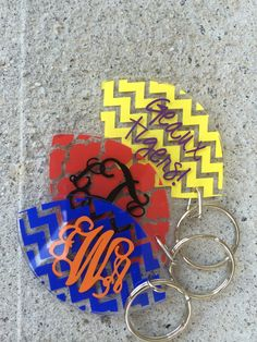 Personalized Football Acrylic Keychain by HappyToz on Etsy