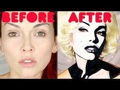 Marilyn Monroe Transformation #kandeejohnson #makeuptutorial
