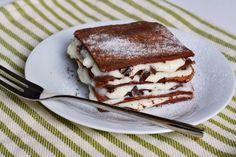 Non è di certo la solita lasagna. Cioccolato, cacao, crema la fanno da padrone. Un dessert ricco e assai goloso.