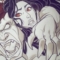 Goliath & Elisa Maza Disney's Gargoyles Artwork