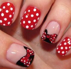 Minnie mouse ! Nails