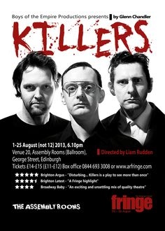 Killers Edinburgh - The new flier.