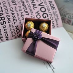 Lavender Pink Wedding Favor Candy Box with purple by sweetywedding, $1.99