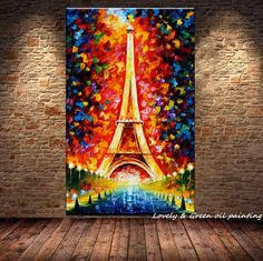 Large Handpainted Abstract Modern Wall Painting Rain Tree Road Palette Knife Oil Painting On Canvas Wall Art Home Decor Abstract Oil, Abstract Canvas, Canvas Wall Art, Wall Mural, Rain Painting, Oil Painting On Canvas, Eiffel Tower Painting, Cheap Paintings, Oil Paintings