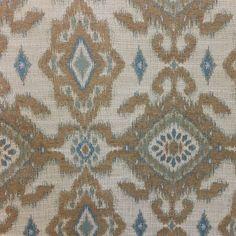 M9936 Turquoise Blue Green Woven Ikat Design Upholstery Fabric by Barrow Merrimac Fabrics - 57471 | BuyFabrics.com