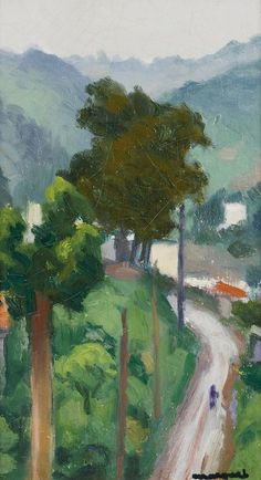 Albert Marquet (French, 1875-1947), La Route, c.1944. Oil on paperboard, 21 x 12.5cm.