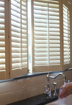 Shutters And Wooden Blinds From JASNO Are The Ideal Window Decoration For  The Kitchen. Shutters And Wooden Blinds Guarantee Sufficient Incoming Light  But ...