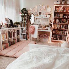 Study Room Decor, Room Ideas Bedroom, Home Bedroom, Cute Room Decor, Bedroom Decor, Bedrooms, Girls Bedroom, Wall Decor, Aesthetic Room Decor