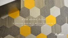 Amtico - Mannington Flooring - hexagon luxury vinyl tile