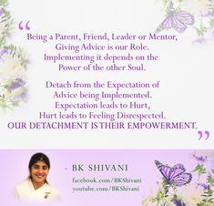 Feel Good Quotes, Best Quotes, Hindi Quotes, Wisdom Quotes, Expectation Hurts, Bk Shivani Quotes, God 7, Brahma Kumaris, Om Shanti Om