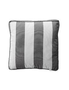 kissenrolle 25x50 wieder da die sch nen gro en sommerkissen mit breiten blockstreifen in grau. Black Bedroom Furniture Sets. Home Design Ideas