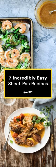 7 Sheet-Pan Recipes That Couldn't Be Easier I Love Food, Good Food, Yummy Food, Tasty, Healthy Eating, Healthy Food, Healthy Diners, Healthy Munchies, Healthy Meals