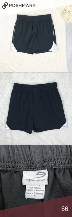 Champion Workout Shorts Champion Workout Shorts Size S Excellent Used Condition! Super lightweight! Elastic waist!  Measurements: - Across the top: 13.5in (unstretched) - Down the side: 14.5 in. - Inseam: 4.5 in.  Materials: - 100% polyester  MAKE AN OFFER!!! Champion Shorts